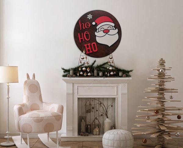 świąteczne dekoracje z mikołajem