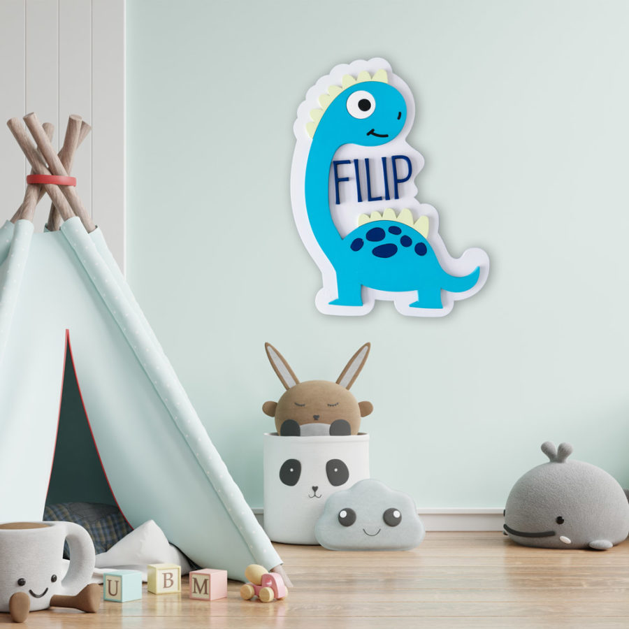 dekoracja do pokoju dziecięcego - dinozaur