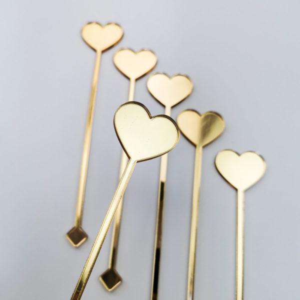 złote mieszadełka serce