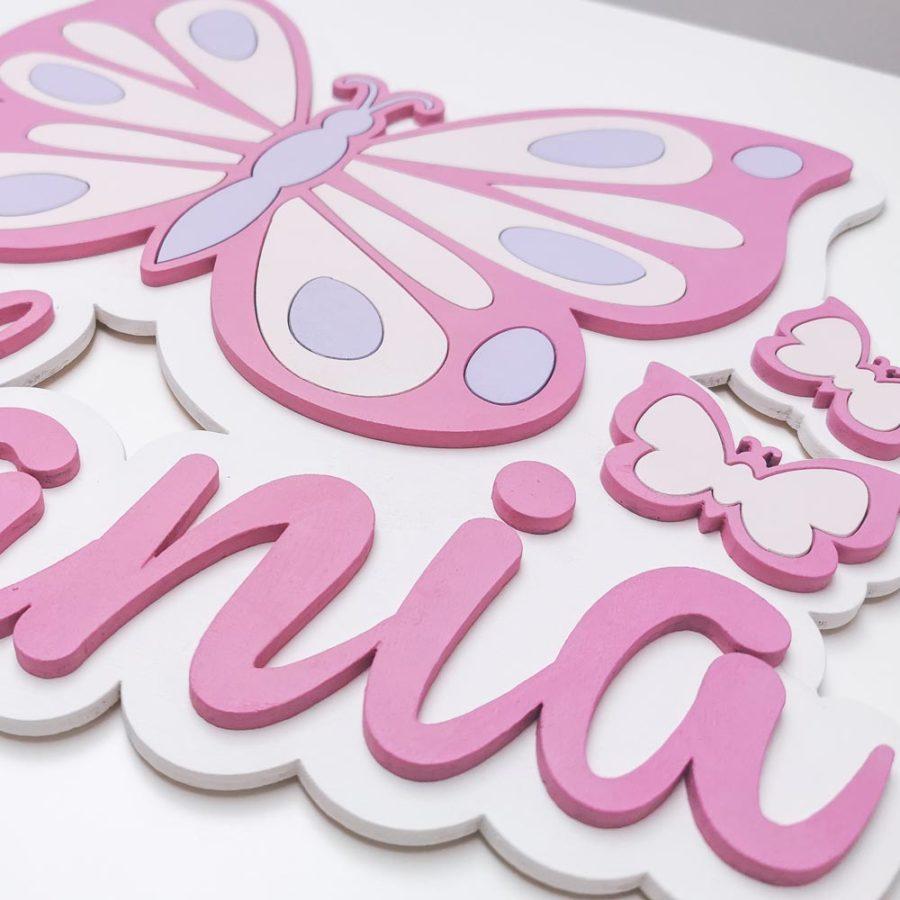 dekoracja do pokoju dziecięcego motylek