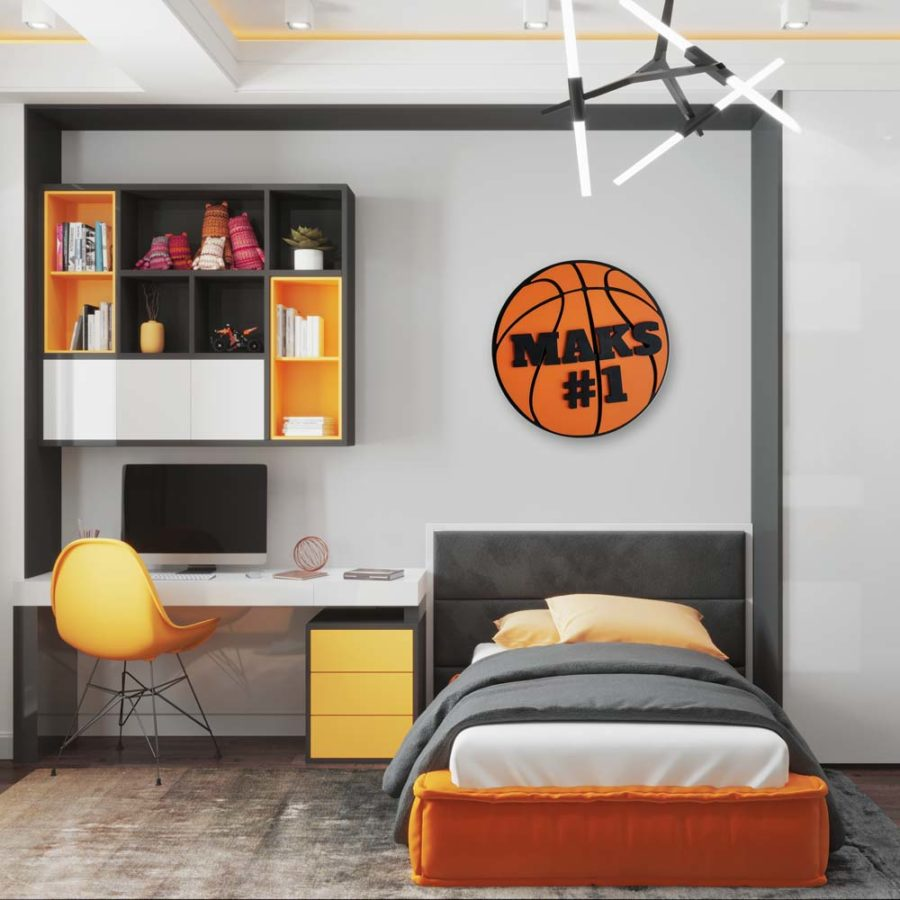 dekoracja do pokoju dziecięcego koszykówka