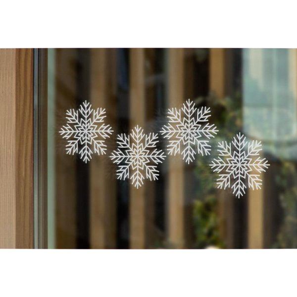 białe śnieżynki dekoracja