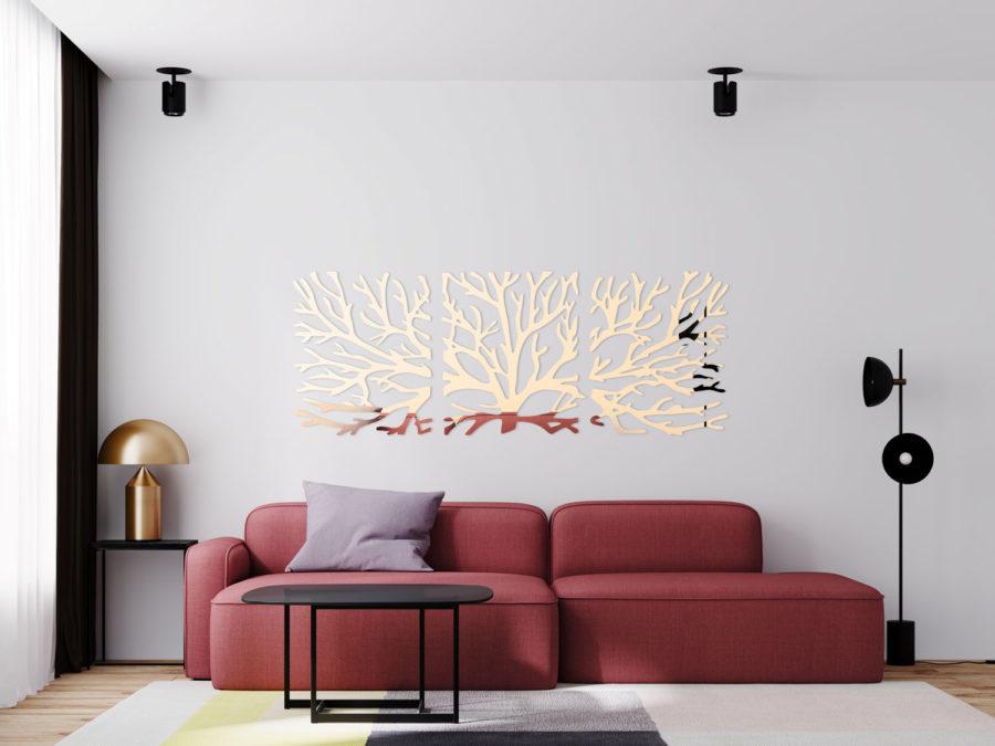 dekoracja ścienna tryptyk drzewo